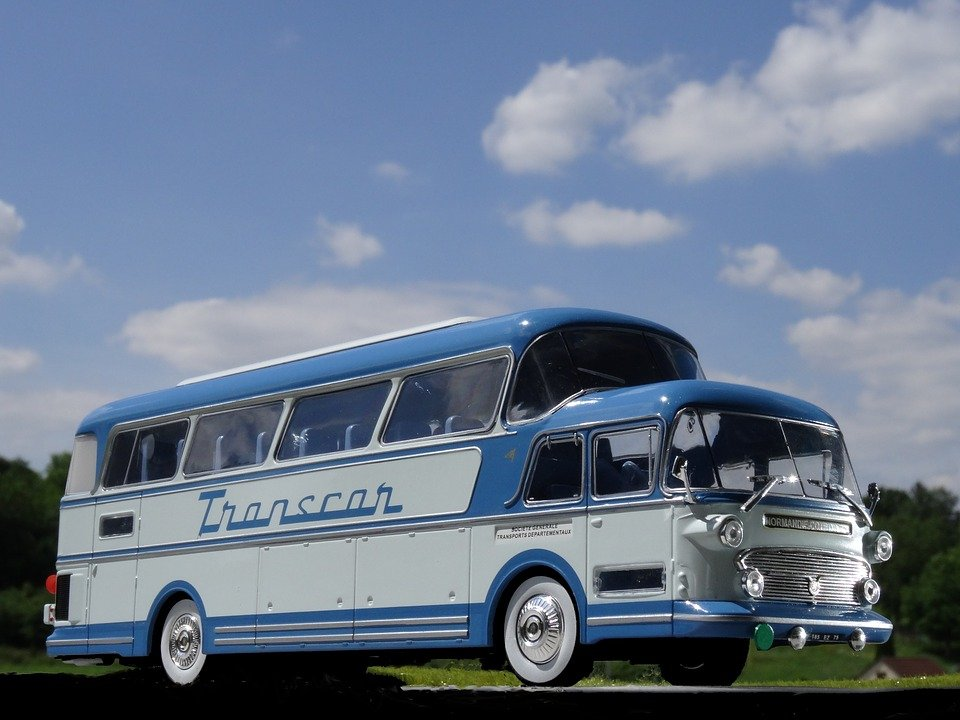 Model Car, Bus, Coach, One And A Half Decker, France